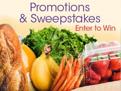 Promotions and Sweepstakes, Enter to Win. Promotions and Sweepstakes page