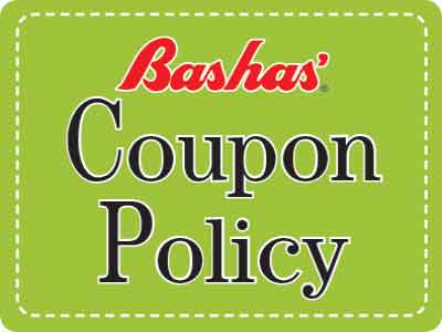 Double coupons banner. Text: We gladly double your manufacturers' coupons every day. Subtext: Up to $.50 value. Double Coupons and Coupon Policy page